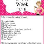 Workout of the Week T/Th