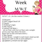Workout of the Week M/W/F  Workout 2