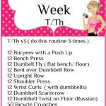 Workout of the Week T/Th Workout 2