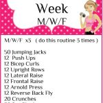 Workout of the Week M/W/F Workout 3